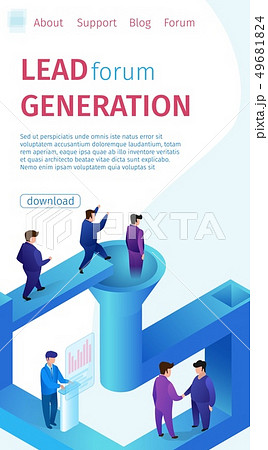 Popular Lead Forum Generation Vertical Banner. 49681824
