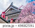 長野県上田市 上田城と桜 49682591