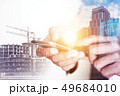 Business concept of construction and connection 49684010