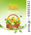 Holiday easter getting card with a colorful eggs 49685842
