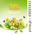 Holiday easter background with a colorful eggs and 49685843