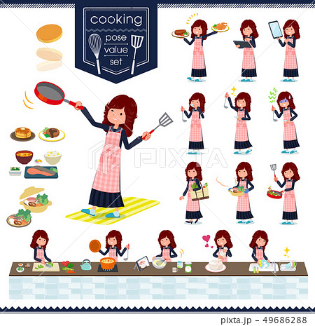 flat type Bad student girl_cooking.eps 49686288