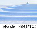 空 階段 米の写真 49687518