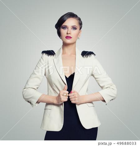 Portrait of elegant fashion model woman  49688033