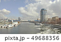 Aerial view of the Moscow river in spring. Moscow, Russia 49688356