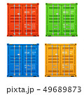 Realistic closed cargo containers.  49689873