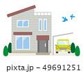 一戸建て 住宅 家のイラスト 49691251