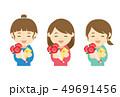 プレゼント 笑顔 花束のイラスト 49691456