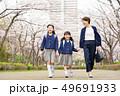 親子 桜 歩くの写真 49691933