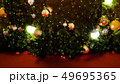 Decorated Christmas tree on blurred 49695365