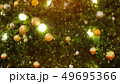 Decorated Christmas tree on blurred 49695366