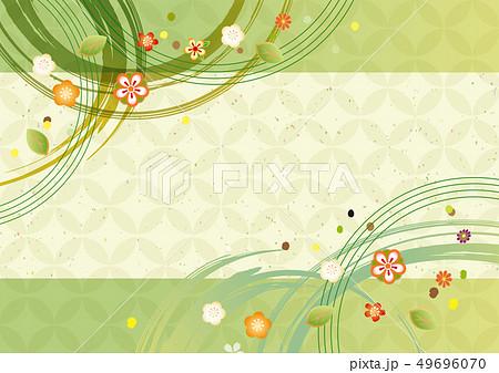 緑色の和風パターン 49696070