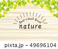 葉 新緑 背景のイラスト 49696104