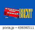 London city bus crashing with brexit word 49696511