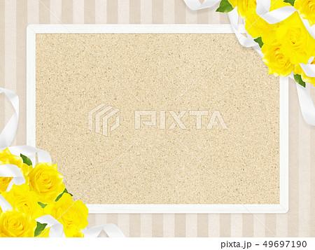 背景-バラ-黄色-父の日-ベージュ-フレーム-コルクボード 49697190