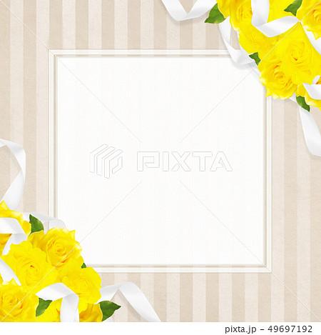 背景-バラ-黄色-父の日-ベージュ-フレーム 49697192