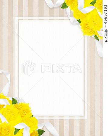 背景-バラ-黄色-父の日-ベージュ-フレーム 49697193