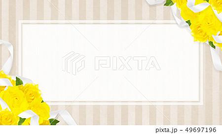 背景-バラ-黄色-父の日-ベージュ-ストライプ-フレーム 49697196