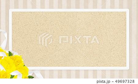 背景-バラ-黄色-父の日-ベージュ-フレーム-コルクボード 49697328