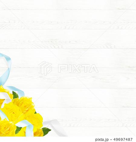 背景-バラ-黄色-父の日-白壁 49697487
