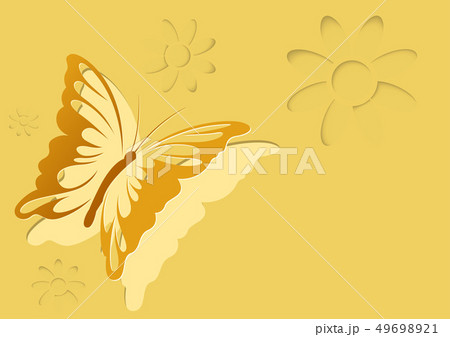 Paper Cut Out Butterfly Background 49698921