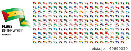 National flags of the countries. Vector illustration on white background 49699039