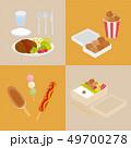 日本の食べ物(ハンバーグ・お弁当・屋台メニュー) 49700278