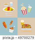 オムライス からあげ 食べ物のイラスト 49700279