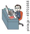 ノートパソコン 操作 ビジネスのイラスト 49701668
