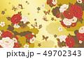 和柄 花 背景のイラスト 49702343