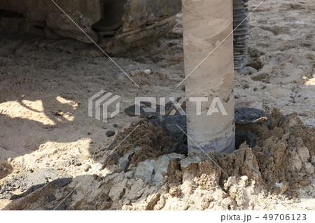 地盤改良 ピュアパイル工法(PP工法) 掘削中 イメージ 49706123