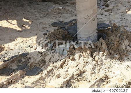 地盤改良 ピュアパイル工法(PP工法) 掘削中 イメージ 49706127