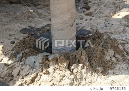 地盤改良 ピュアパイル工法(PP工法) 掘削中 イメージ 49706136