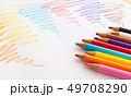 色鉛筆の書き味 書き心地 カラフル 49708290