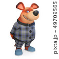 3d illustration Funny dog in pajamas 49709565