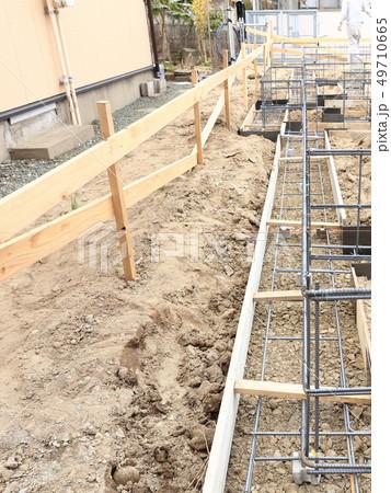 新築住宅 基礎工事 布基礎 鉄筋 49710665
