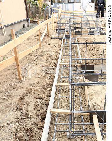 新築住宅 基礎工事 布基礎 鉄筋 49710666