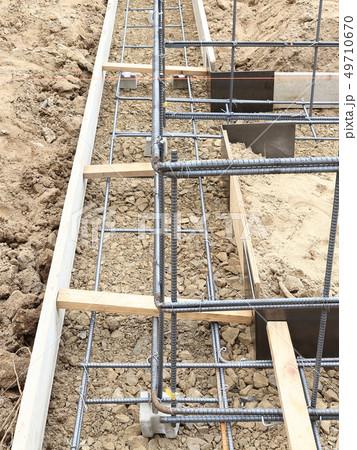 新築住宅 基礎工事 布基礎 鉄筋 49710670