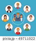 人々 人物 ネットワークのイラスト 49711022