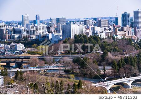 仙台城址からの仙台市街眺望 49711503