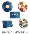 Set of retro media storage for music and sound 49714126
