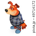 3d illustration Funny dog in pajamas 49714172