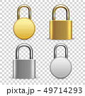 Vector 3d Realistic Closed Metal Golden and Silver Padlock Icon Set Closeup Isolated on Transparent 49714293