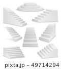 Vector 3d Realistic White Stairs Icon Set Closeup Isolated on White Background. Design Template of 49714294
