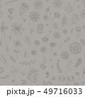 フローラル グレー パターンのイラスト 49716033