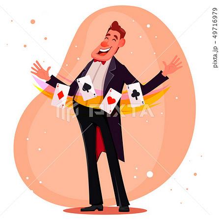 Illusionist shows magical tricks 49716979