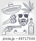 Mexican sketch set 49717540