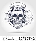 Sketch, skull rastaman. 49717542