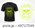 Angry skull on t-shirt 49717549