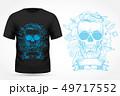 Angry skull on t-shirt 49717552